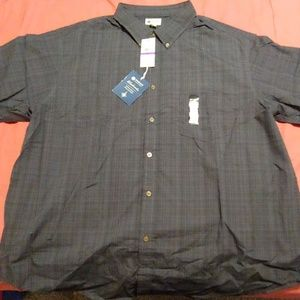 NWT Haggar Short Sleeve Button Down